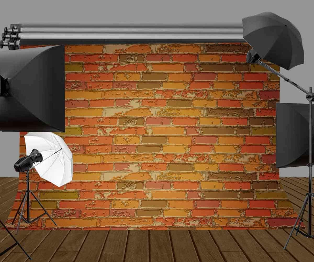 GoHeBe Brick Wall Backdrop Photography Backdrops Photo Backdground for Props Studio Indoor Decorations 7X5ft LYLS021