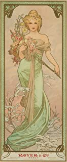 product image for France - The Seasons - Royer - Spring - (artist: Mucha, Alphonse c. 1900) - Vintage Advertisement (24x36 Giclee Gallery Print, Wall Decor Travel Poster)