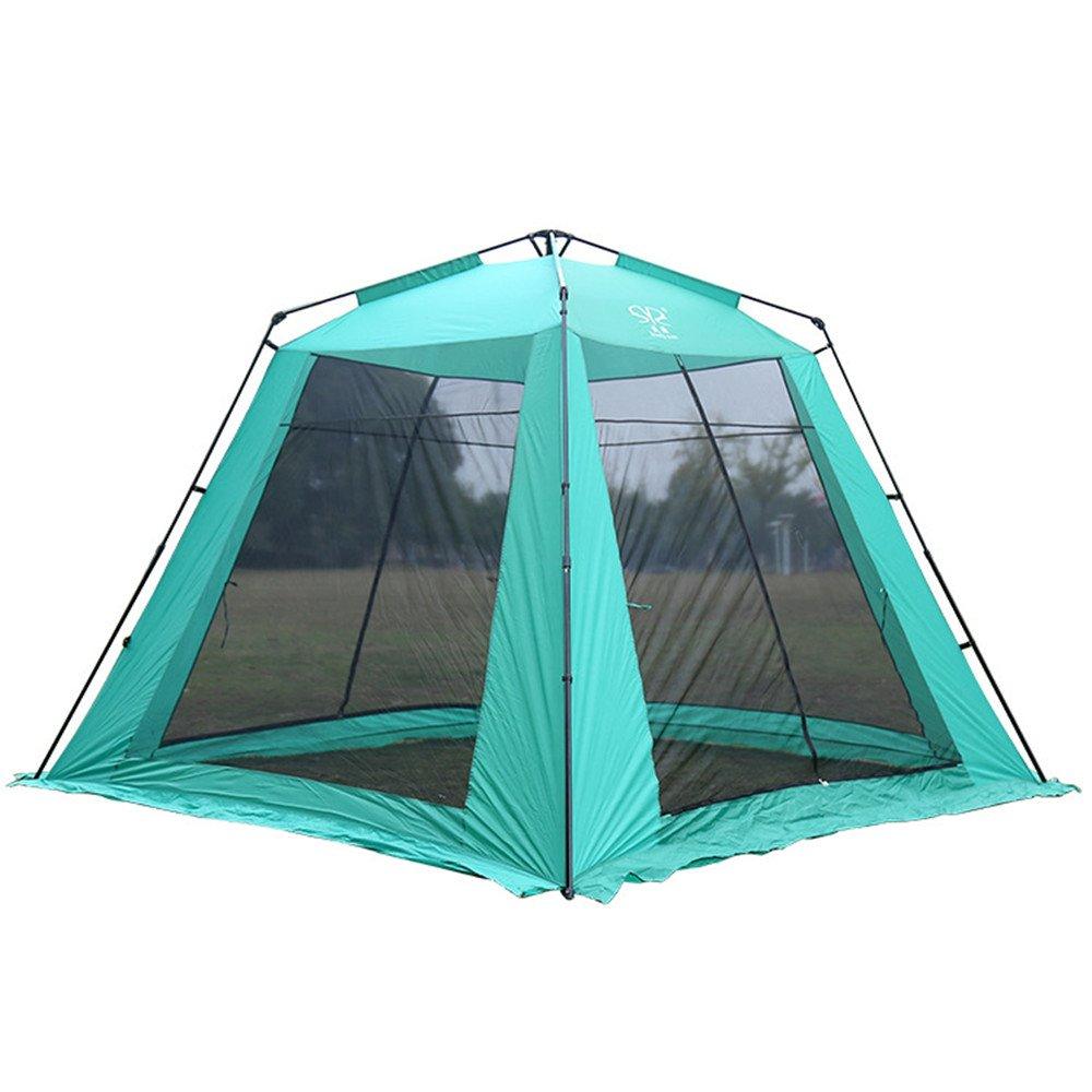 5-8人の頑丈なキャンプテント四隅のスクエアトップ自動インスタントポップアップバックパックテントUltright防水キャンプ旅行のための防水 B07C1HZ8G2、サンシェード、モスキート B07C1HZ8G2, 揖斐川町:261bf711 --- ijpba.info