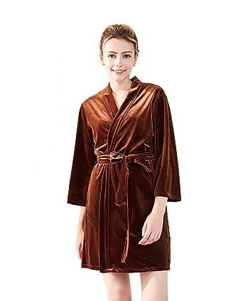 d6c4eb4470d TieNew Damen Elegant Morgenmantel Bademäntel Kimono