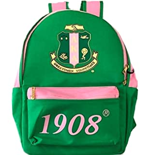 52a0c8cedf Amazon.com   Alpha Kappa Alpha Sorority Green Logo Bag-To-Go ...