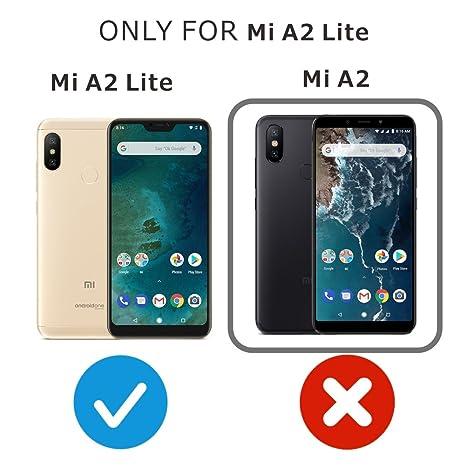 FMPC [2-Pack Protector Pantalla Xiaomi Mi A2 Lite, Cristal Vidrio Templado Premium, [2.5D Borde Redondo] [9H Dureza] [Alta Definicion] para Xiaomi Mi ...