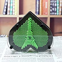 3D Clone Fingerprint Needle Painting, Novelty Antistress Plastic Pin Impression Hand Mold for Home and Office Desktop Sculpture - Christmas Kids Gift,Green,L