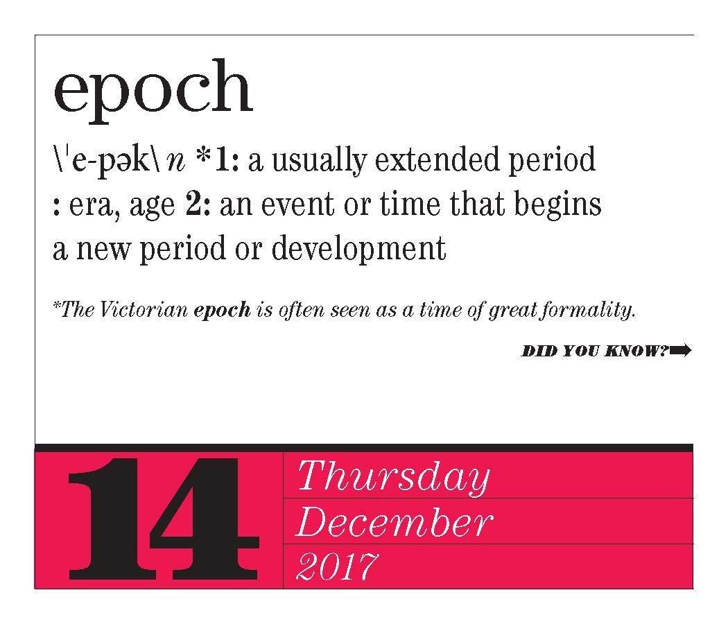 word of day calendar