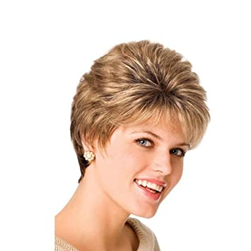 Amazon Com Golden Short Hair Wig Girls Loose Short Kinky Curly