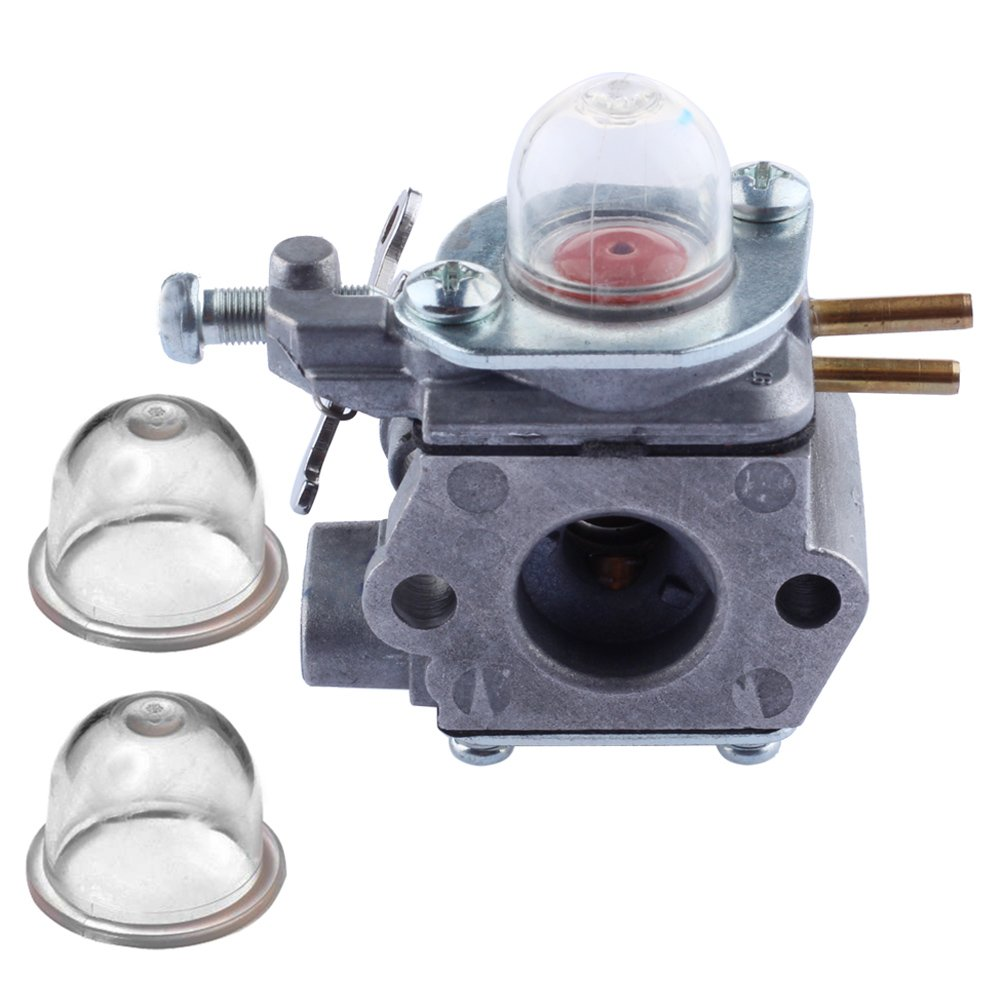 Amazon.com: HIPA Carburetor with Primer Bulb for Troy-Bilt TB80EC TB32EC  YM21CS TB21EC TB22EC TB2040XP Trimmer # WT-973: Garden & Outdoor