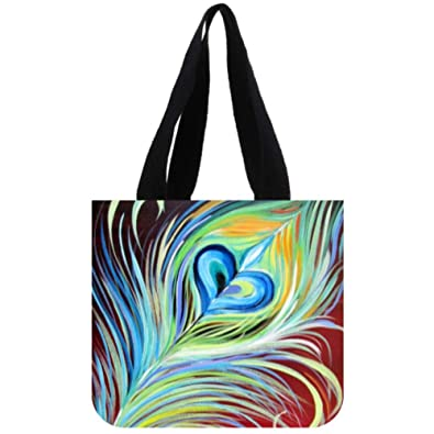 Amazon.com: Bolsa de tela para pintar con plumas de pavo ...