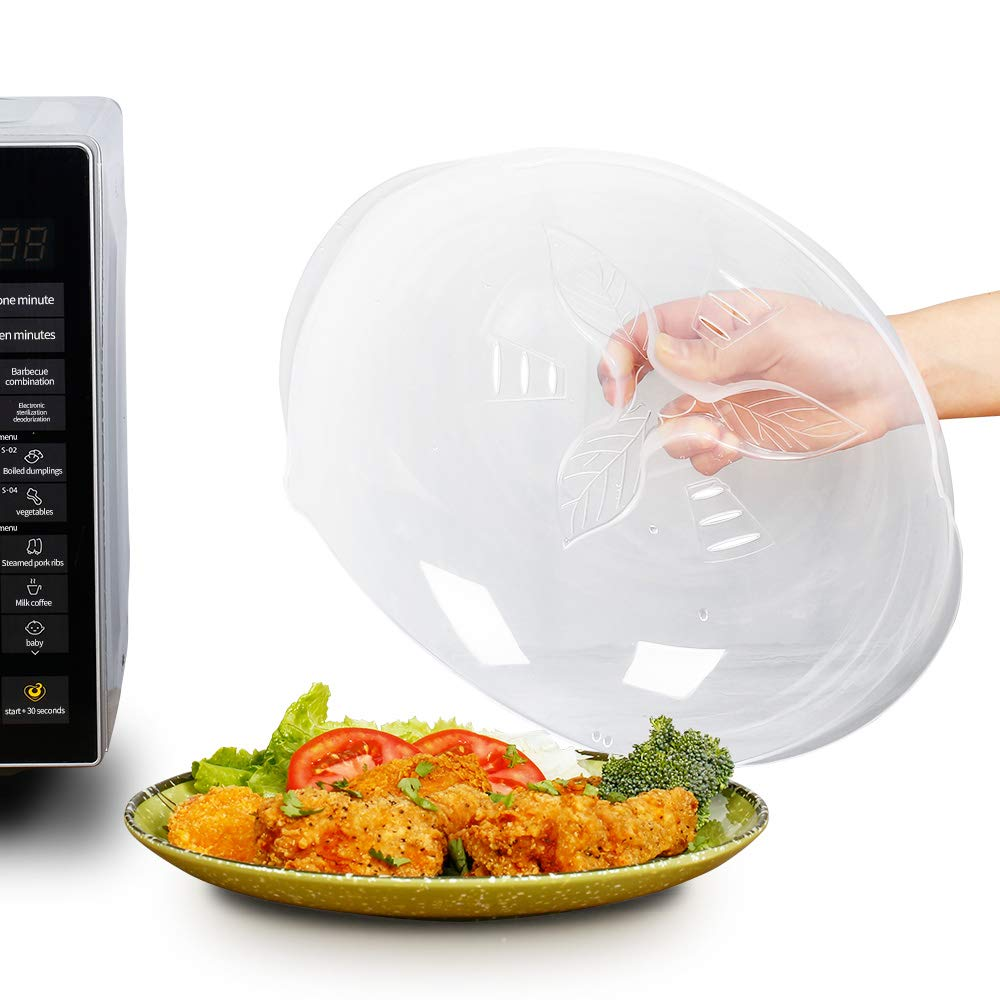 Microwave Plate Cover, Original Hover Food Splatter Microwave Cover Anti-Sputtering with Steam Vents, BPA Free and Dishwasher Safe