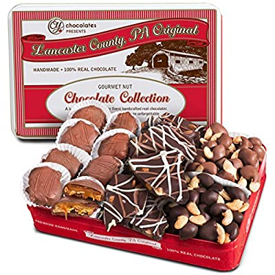 Golden State Fruit Premium Handmade Chocolates Trio Assortment Gift Tin