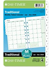 """Day-Timer 2020 Monthly Planner Refill, 5-1/2"""" x 8-1/2"""", Desk Size 4, Loose Leaf, Two Pages Per Month, Classic (87229)"""