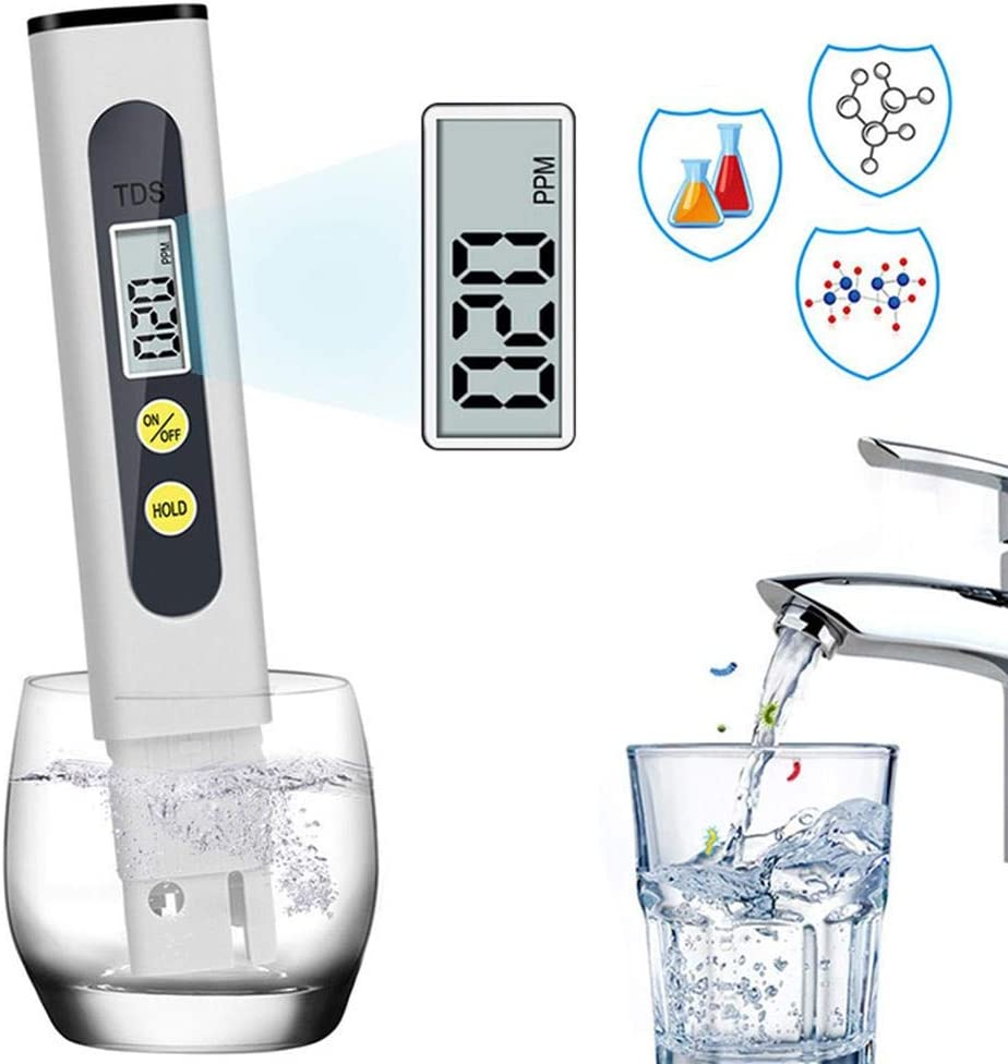 TDS Meter Digital Water Tester Professional 3-in-1 TDS 0-9999ppm Ideal ppm Meter for Drinking Water Aquariums and More Temperature and EC Meter