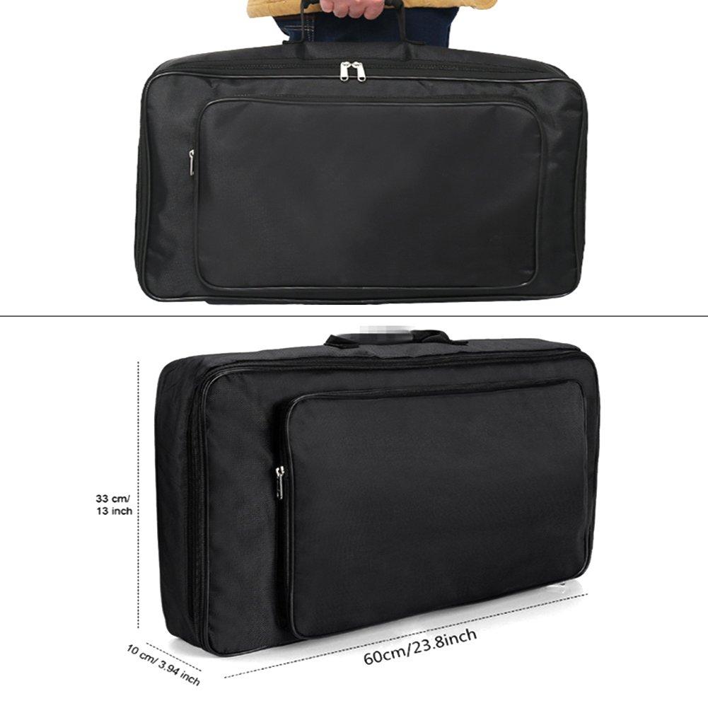 Guitar Pedal Board Case, Portable Soft Effects Pedal Board Carrying Lightweight Gig Bag Soft Case Universal Bag Black US-PopTrading JJ-001