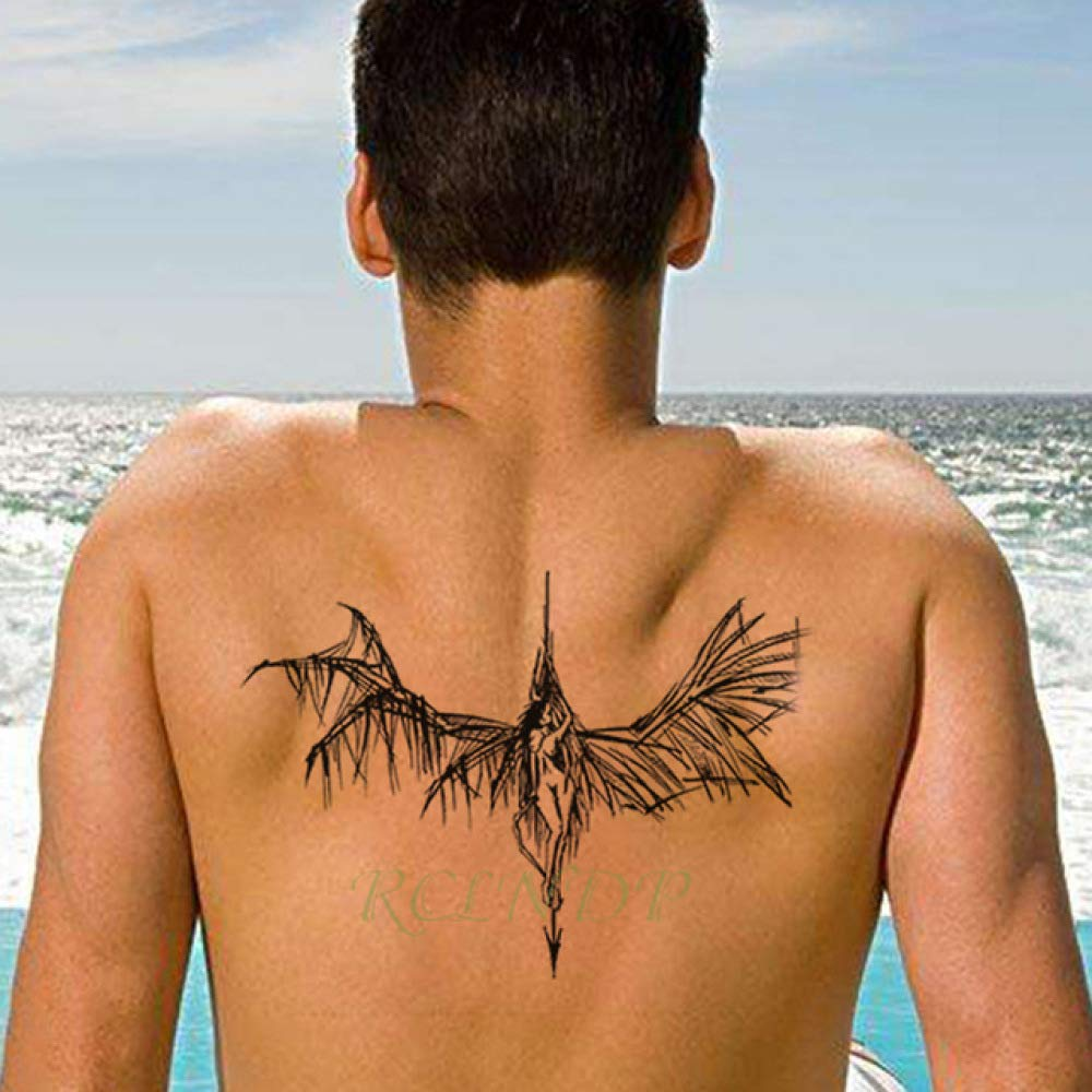 5pcs Impermeable Tatuaje del ala del ángel de la Muchacha Flecha ...