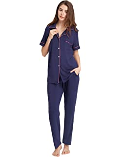 Zexxxy Women s Cotton Sleepwear Boyfriend Style Short Sleeve Pajama Set  ZE0158 a72a1e070