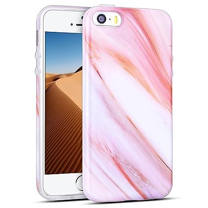 Mosoris Funda iPhone 5/5S/SE, Marble Mármol Suave TPU Silicone Carcasa Goma Case Ultra Delgado Flexible Gel Caso Anti-Rasguños Patrón Granito Tapa ...