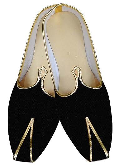 Mens Black Velvet Wedding Shoes Partywear MJ014309