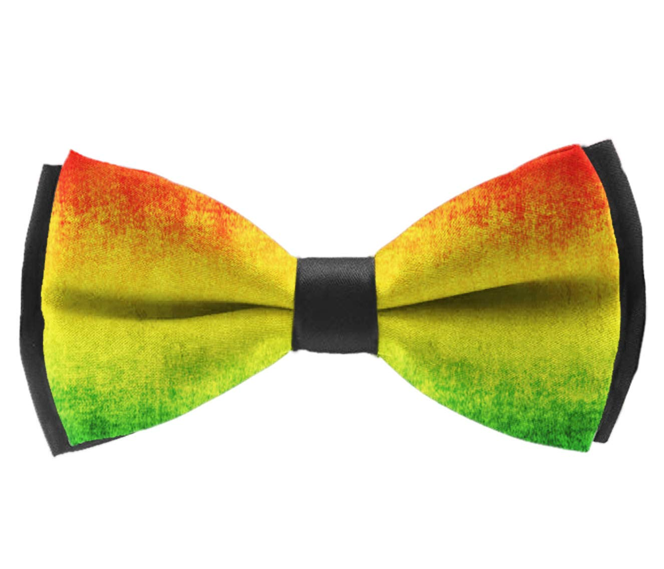 Party Bow Tie INWANZI Mens Classic Pre-Tied Adjustable Length Bowtie Large Feature Rasta Grunge