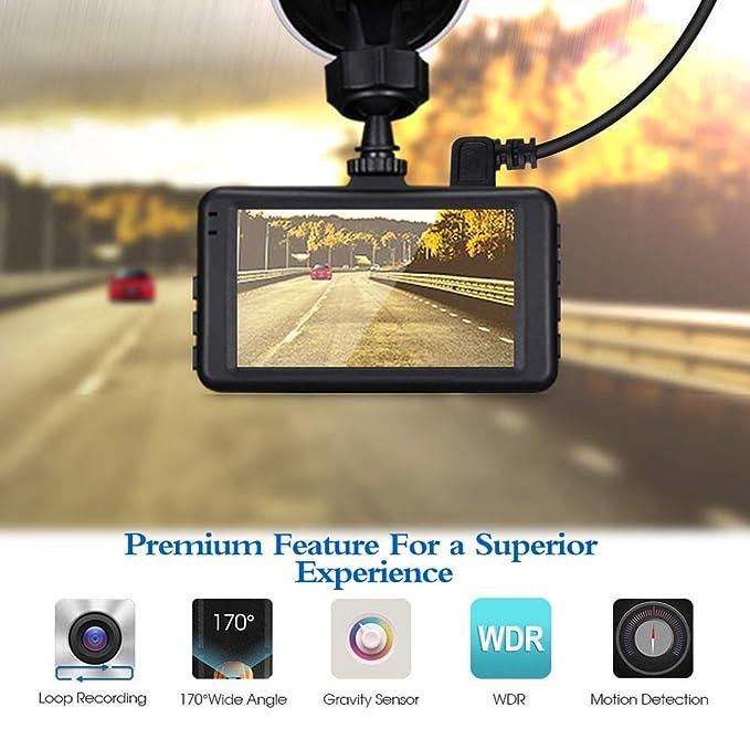 f4ada93ee OKEEY In Car Dash Cam Full HD 1080P Dash Camera 3.0