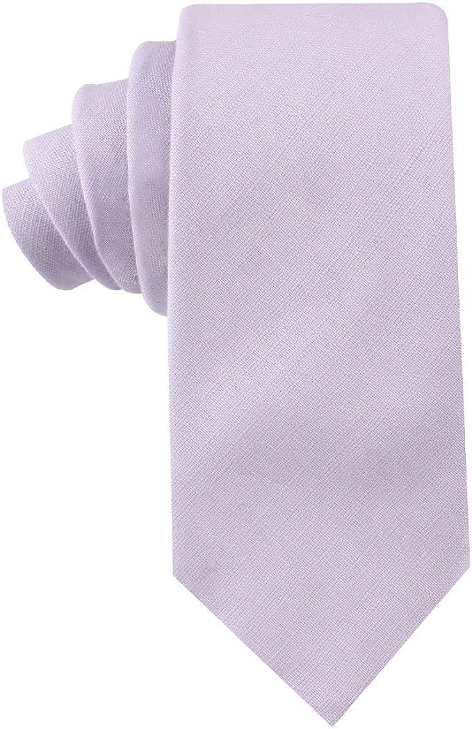 AUSCUFFLINKS Corbata pitillo morado de algodón lila morado ...