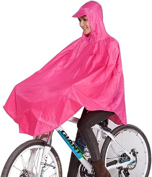 QIYUEYU Chubasquero, Bicicleta de montaña portátil para Montar ...