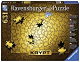 Ravensburger Krypt Puzzle Gold 631 Piece Jigsaw Puzzle for Adults - Every Piece is Unique, Softclick Technology Means Pieces Fit Together Perfectly
