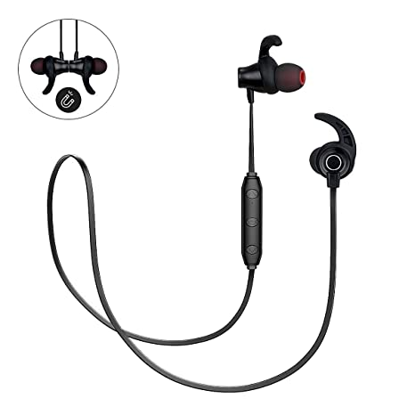 Wireless Bluetooth cuffie auricolari in-ear Sweatproof auricolari per sport  corsa con Mic (super 7c9f5223461e