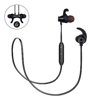 Auriculares inalámbricos Bluetooth intraurales sudorables para deportes corriendo con micrófono (calidad de sonido superior,