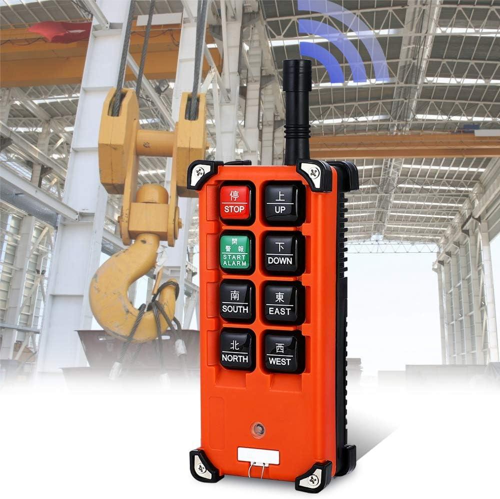 MXBAOHENG Elevación Grúa Mando a Distancia Inalámbrico f21e1b Transmisor y Receptor 220V Control Remoto Industrial de Elevación