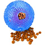 Ewolee IQ Treat Ball Interactive Food Dispensing Dog Toy for Pet Teeth Health and IQ Training,Dog Chew ball Made by Non-Toxic Soft Rubber