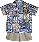 RJC Boys Hawaiian Symbol 2pc Set in Blue - 7T