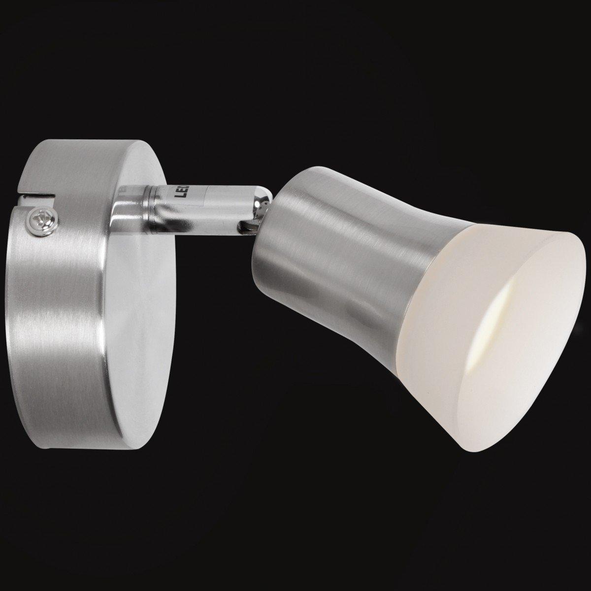 Wohnling Clara LED-Spot 6-flammig, Metall, 19x16x55 Silber, 19x16x55 Metall, cm 423a87