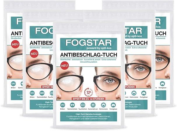 Fogstar Antibeschlag Tuch Verhindere Effektiv Das Beschlagen Deiner Brille Brillenreiniger Anti Beschlag Schutz Brillenputztuch Antibeschlag Wiederverwendbar 5 Drogerie Körperpflege