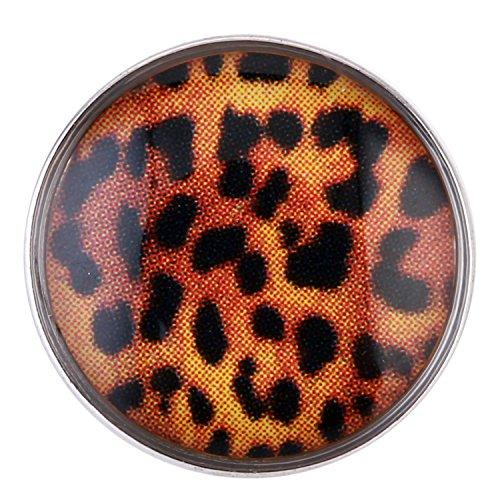 Morella ® pour petit click-button lot de 3 boutons pression pour bijou femme à motifs ø 12 mm motif léopard chat imprimé léopard