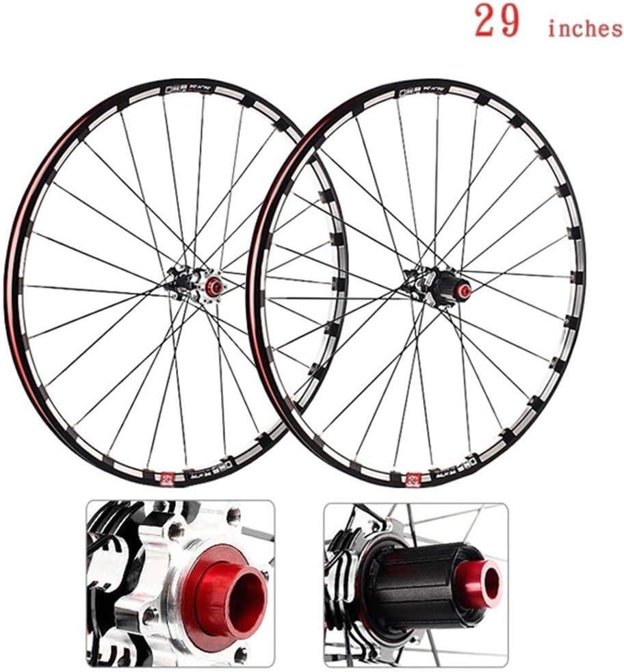 CHUDAN Bicicleta MTB Rueda Delantera Rueda Trasera, Juego De Ruedas De Bicicleta De Montaña 29 Pulgadas Llanta De Aleación De Aluminio De Doble Pared Freno De Disco Rodamiento De Barril: Amazon.es: Deportes
