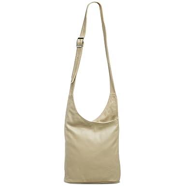 CASPAR TL764 Sac à main messager en véritable cuir nappa, Couleur:marron;Taille:One Size