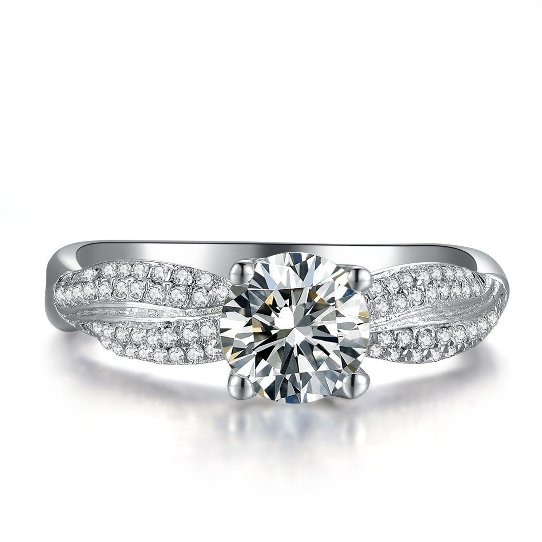 1CT Super Luxury Micro Paved NSCD Diamond Ring Engagement Jewelry for Women 3MJEWELRY SRMJZ0143