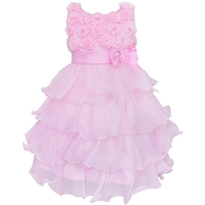 Ropa de descanso para niñas 3D de rosas vestir e instrucciones para hacer vestidos vestido de