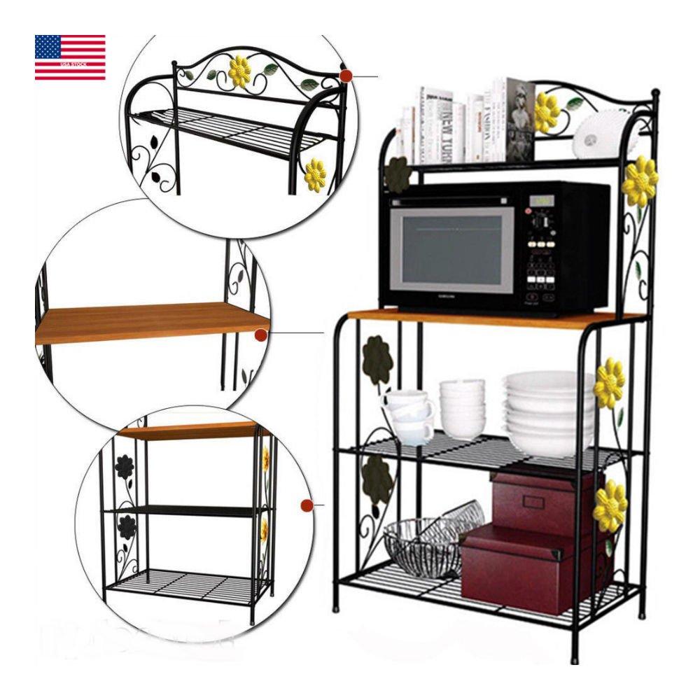NEW Kitchen Baker's Rack Utility Microwave Stand Storage Cart Workstation Shelf