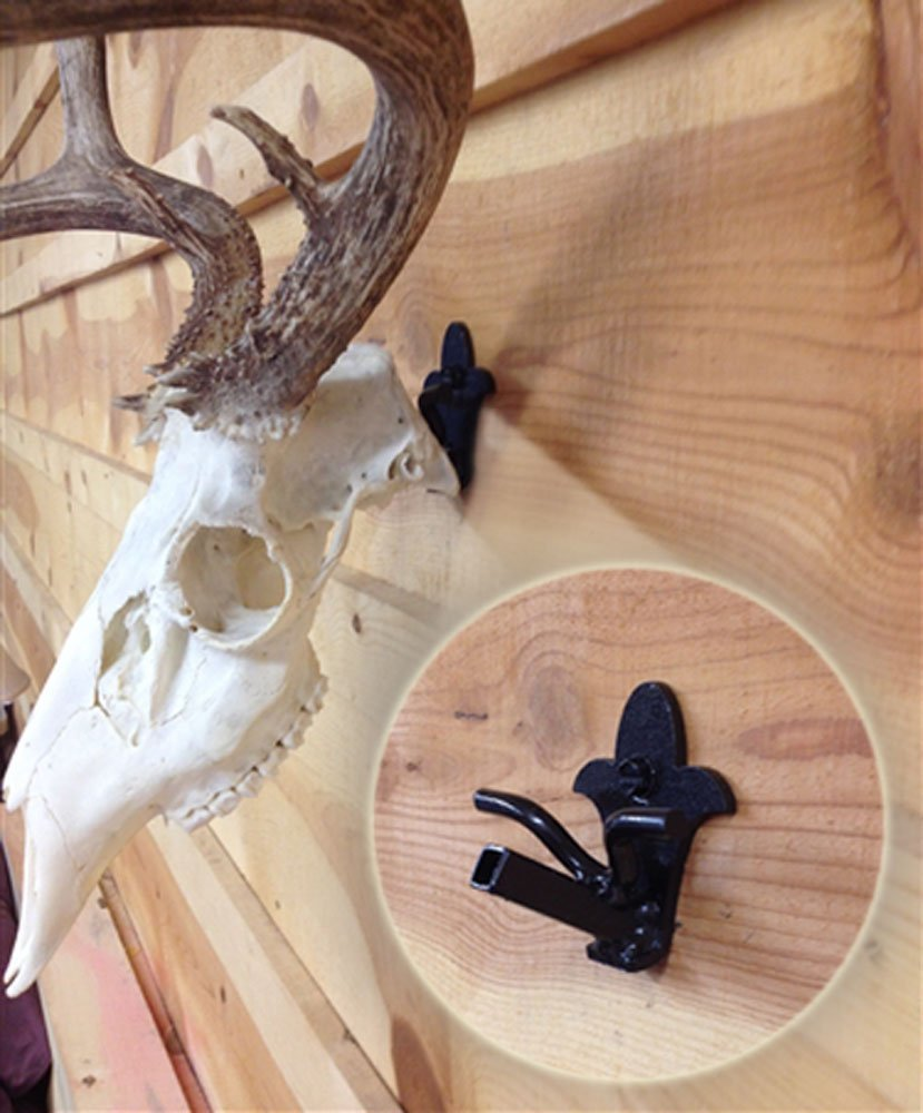 Buck Bracket European Deer Skull Hanger Mount kit for Whitetail and Mule Deer sized game, Worlds Strongest, Oil Rubbed Bronze Finish, Proudly Made in USA.