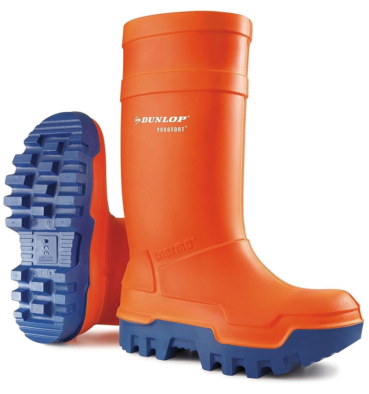 Dunlop Oranger Gummistiefel Purofort thermo + mit Stahlkappe,  Thermoisolierung bis - 40 °C fc730c53f0