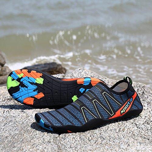 Barefoot Piscina Shoes KOUDYEN para Beach de hombres Correr Shoes Swim Calcetines piel verde Surf Mujeres Aqua Water Yoga wxqqFYrOX