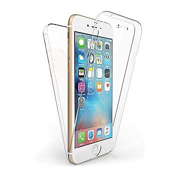 TBOC Funda para Apple iPhone 6 (4.7 Pulgadas) - Carcasa [Transparente] Completa [Silicona TPU] Doble Cara [360 Grados] Protección Integral Total ...
