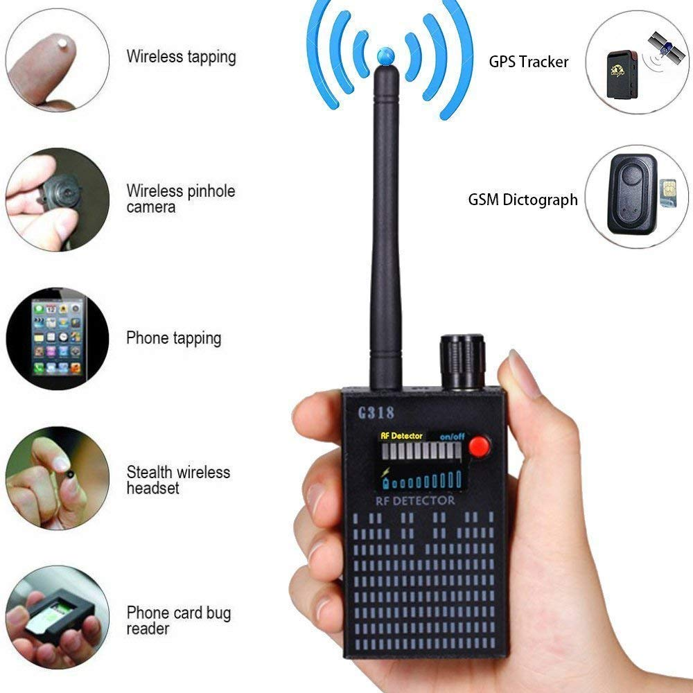 Anti Spy Camera Detector RF Signal Bug Detector Wireless Signal Laser Lens GSM Detector Ultra-high Sensitivity Full-Range Tracker Finder by Guzi