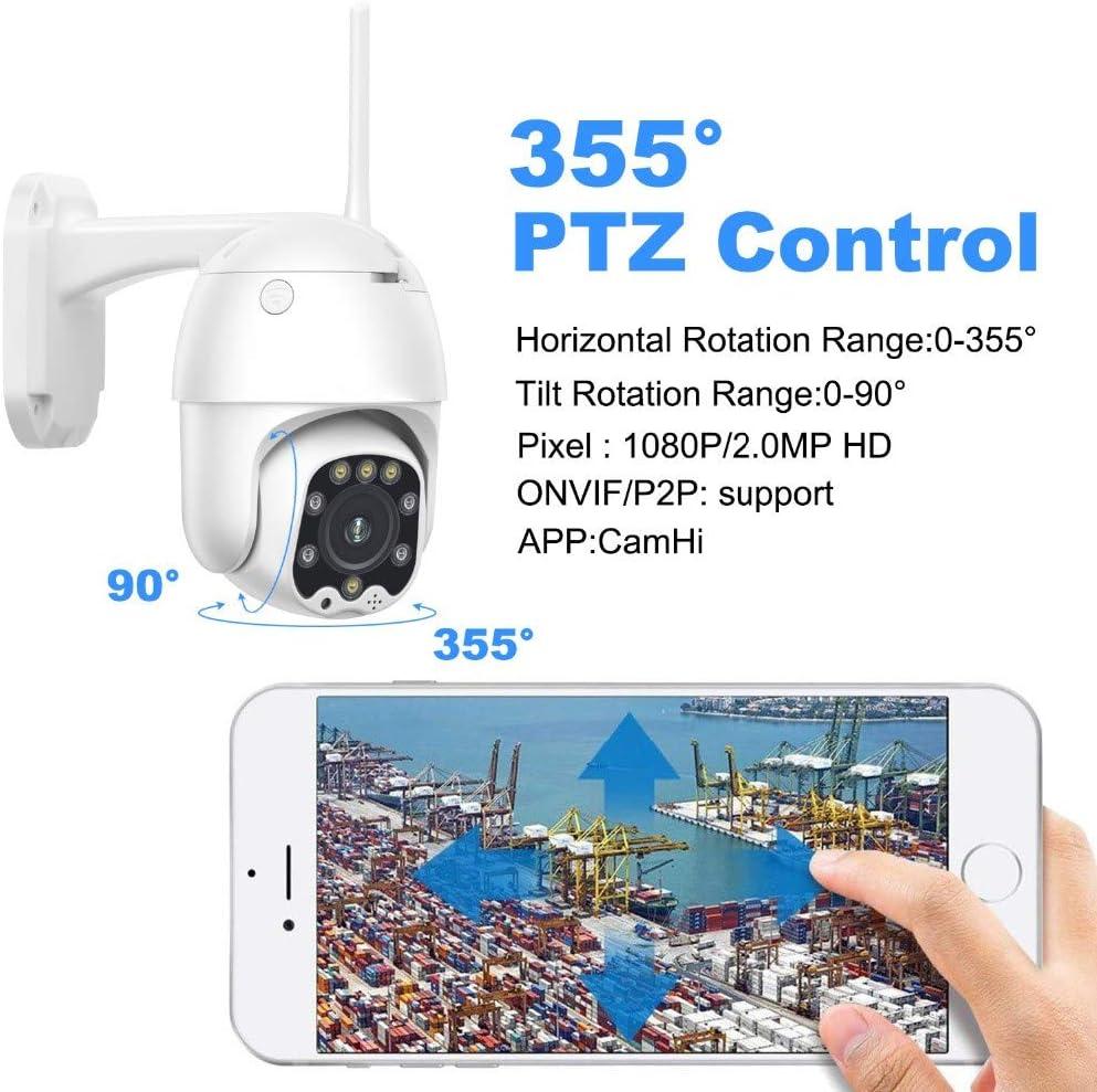 5MP Full HD C/ámara CCTV 3G 4G Tarjeta Sim PTZ C/ámara IP Seguridad Monitoreo al aire libre Audio de dos canales IP66 impermeable puerta 5MP 4G C/ámara A/ñadir 64G tarjeta TF adecuado para garaje