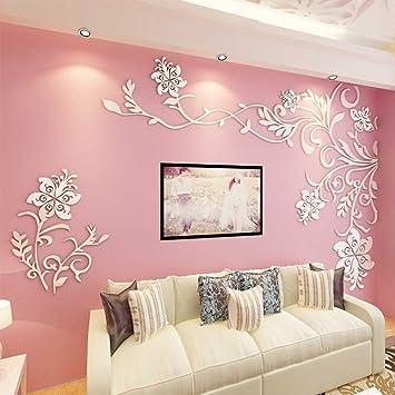 Amazon.com: Acrylic 3d wall stickers Living room tv backdrop ...