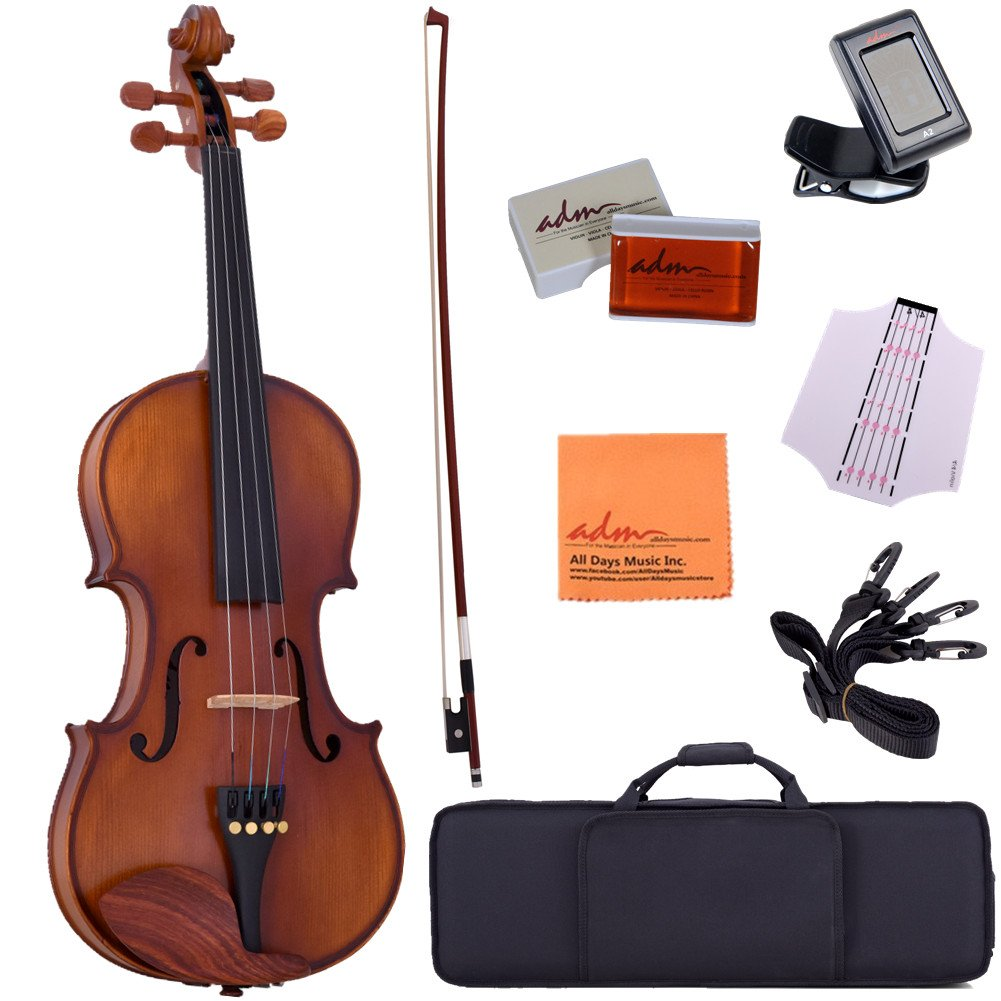 Amazon.com: ADM 4/4 Full Size Intermediate Solid Wood Acoustic Violin  Outfit, Beginner Kit, Brown: Musical Instruments