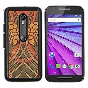 YiPhone /// Prima de resorte delgada de la cubierta del caso de Shell Armor - La pared del arte de la pintura antigua - Motorola MOTO G3 / Moto G (3nd Generation)