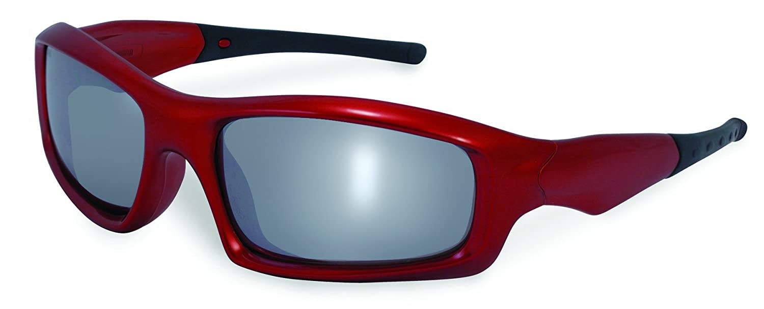 SSP Eyewear Safety Glasses with Black Frames and Silver Mirrored Shatterproof Lenses SKAGIT BLK M