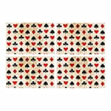 InterestPrint Card Suits Kitchen Table Mats Placemats Set of 4, Clubs Diamonds Hearts Spades Poker Gamble Place Mat for Dining Table Restaurant Home Decor 12''x18''