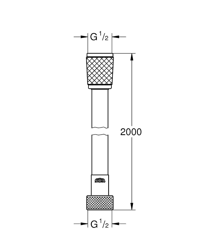27173001 cromo Grohe Vital millennioflex Comfort 2000/ Manguera de ducha